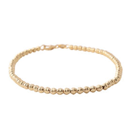 9K Yellow Gold Bead Bracelet (Size 7.5), Gold wt 3.40 Gms