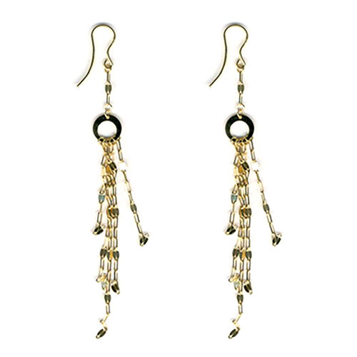 Limited Available- Italian Designer Inspired  9K Yellow Gold Forzatina Dangle Hook Earrings
