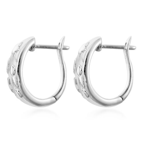 RACHEL GALLEY Sandblast Collection - Rhodium Overlay Sterling Silver Celestial Theme Earrings (with Clasp)