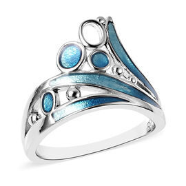 Isabella Liu Arctic Collection - Rhodium Overlay Sterling Silver Enamelled Ring
