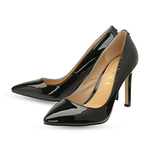 Ravel Black Edson Patent Court Shoes (Size 7)