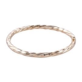 Royal Bali Diamond Cut Stacker Bangle in 9K Gold 8.93 Grams 7.5 Inch