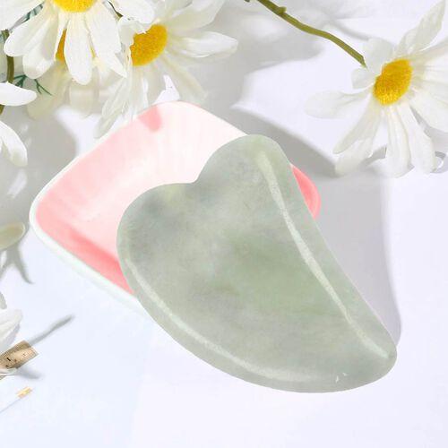 Green Jade Gua Sha (Scraping Plate) in Gift Box