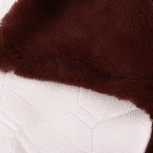 Luxuriously Soft Faux Fur Rug in Chocolate Brown Colour (Size 60x100 Cm)