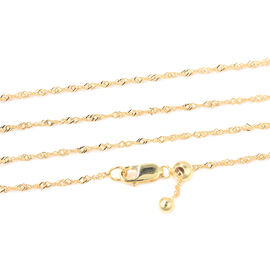 Yellow Gold Overlay Sterling Silver Necklace (Size 16)