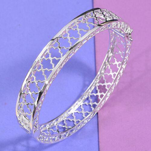 Designer Inspired-Sterling Silver Bangle (Size 7.5)
