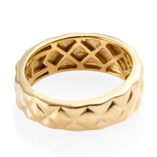 Designer Inspired- Diamond (Rnd) Band Ring in 14K Gold Overlay Sterling Silver