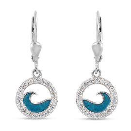 Natural Cambodian Zircon Earrings in Platinum Overlay Sterling Silver