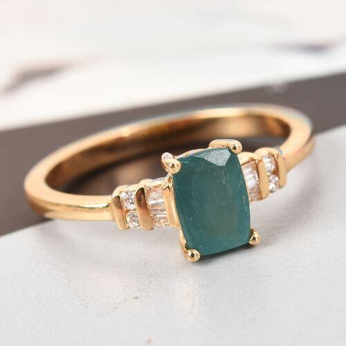ILIANA 18K Yellow Gold AAA Grandidierite and Diamond Ring 1.00 Ct, Gold wt. 3.05 Gms