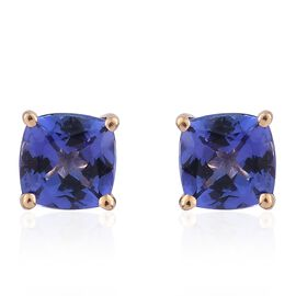 ILIANA 1.25 Ct AAA Tanzanite Solitaire Stud Earrings in 18K Gold (with Screw Back)