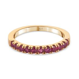 African Ruby Ring in 14K Gold Overlay Sterling Silver 0.50 CT.