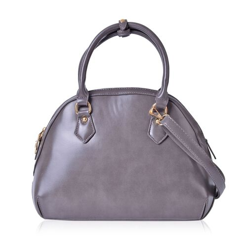 Timeless Collection Grey Colour Tote Bag with Adjustable and Removable Shoulder Strap (Size 33X23.5X14 Cm)