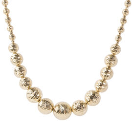 Italian Made - 9K Yellow Gold Diamond Cut Necklace (Size 17 with 2 inch Extender), Gold wt 15.53 Gms