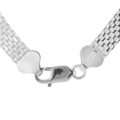 Vicenza Collection Sterling Silver Bismark Chain (Size 18), Silver wt 18.00 Gms.