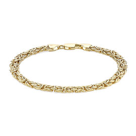 9K Yellow Gold Byzantine Bracelet (Size 7.5), Gold wt 7.10 Gms