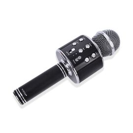 Karaoke Wireless Microphone with Bluetooth and Audio Recording (Size 23 Cm) - Black