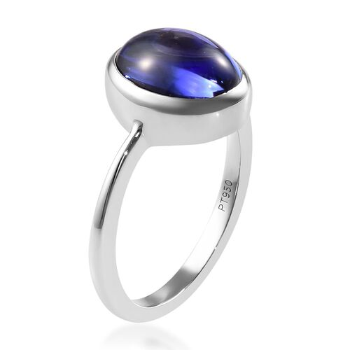 HeirLoom Collection-RHAPSODY 950 Platinum AAAA Tanzanite Solitaire Ring 5.50 Ct, Platinum wt 5.50 Gms