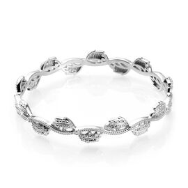 Diamond Accent Bangle (Size 7.5) in Platinum Plated