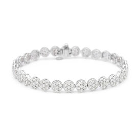 NY 14K White Gold Close Out Diamond (SI-I1/F-G) Tennis Bracelet (Size 7.25) 5.00 Ct, Gold wt. 11.73
