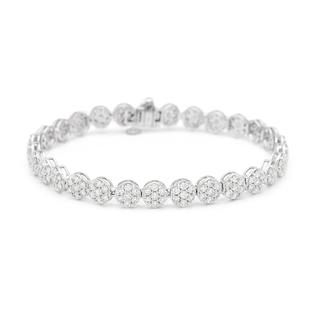 NY Close Out 14K White Gold Diamond (SI/I1 F-G) Tennis Bracelet (Size 7.25) 5.00 Ct, Gold wt. 11.73