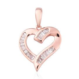 9K Rose Gold SGL Certified Natural Pink Diamond (I3) Heart Pendant 0.33 Ct.
