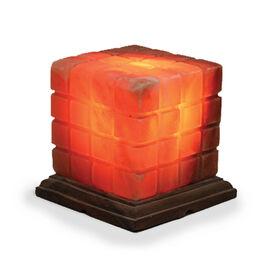 Himalayan Salt Lamp Cube Shape (Size 16x13 Cm)
