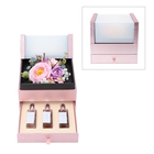 The 5th Season 2 Layer Flower Box With 3 Bottles Of Fragrance Spray - Purple