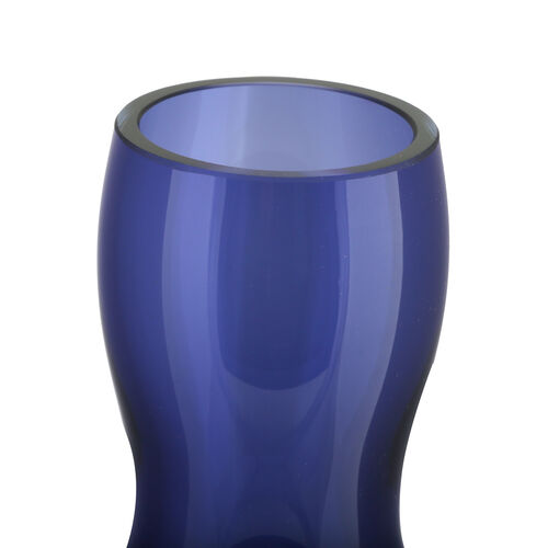 Made In Italy - Authentic Murano Glass Spiral Vase - Royal Blue