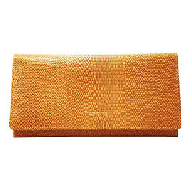 Assots London CLAIRE - 100% Genuine Leather Wallet (20x1.5x10cm) - Ochre