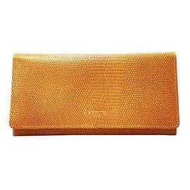 Assots London CLAIRE - 100% Genuine Leather Wallet (20x1.5x10cm) - Ochre