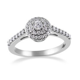 RHAPSODY 950 Platinum IGI Certified Diamond (Rnd) (VS/E-F) Ring 0.50 Ct, Platinum wt 5.20 Gms