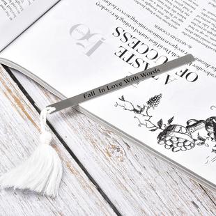 Personalised EngravableTassle Thin Book Mark