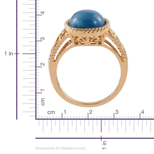 Natural Rare Opalina (Ovl) Solitaire Ring in 14K Gold Overlay Sterling Silver 4.250 Ct.