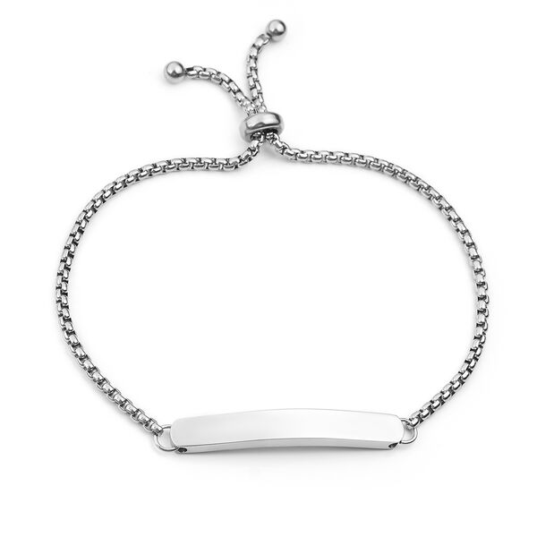 Bar Bolo Bracelet (Size 6-8) in Stainless Steel