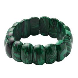 Malachite Stretchable Bracelet (Size 7) 250.00 Ct