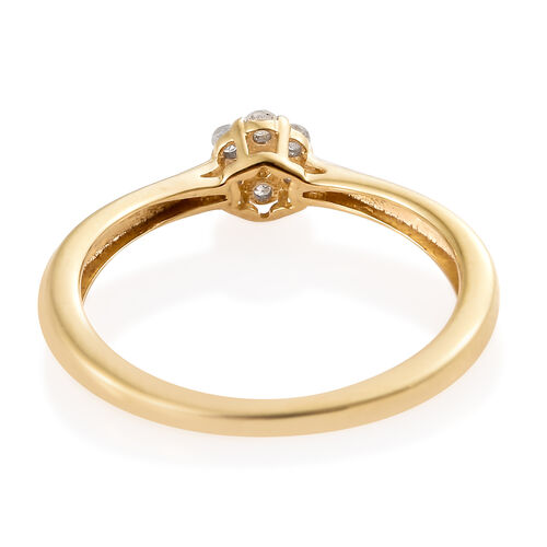 Desginer Inspired Diamond (Rnd) Ring in Platinum and Yellow Gold Sterling Silver 0.10 Ct.