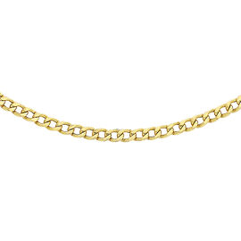 Curb Chain in 9K Yellow Gold 24 Inch