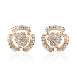 9K Yellow Gold SGL Certified Diamond (Rnd) (I3/G-H) Interchangeable Earrings (with Push Back) 0.33 C