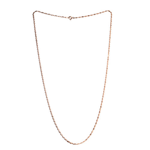 Rose Gold Overlay Sterling Silver Singapore Diamond Cut Chain (Size 24), Silver wt 4.00 Gms