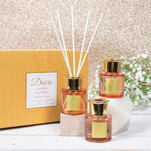Lesser & Pavey - Set of 3 Desire Diffuser Set - Grapefruit, Peach Blush and Vanilla Creme