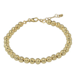 Italian Made Diamond Cut Beads Bracelet in 9K Yellow Gold 4.50 Grams 7 with 1 inch Extender