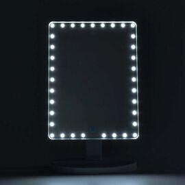LED Touch Sensor Makeup Mirror - White (Size 22.8x37.3x15 Cm)