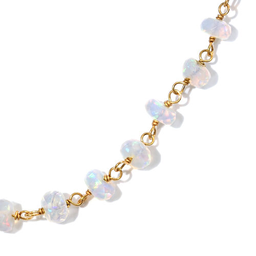 Very Rare Ethiopian Welo Opal Beads Necklace (Size 20 with 2 inch Extender) in Yellow Gold Overlay Sterling Silver 10.800 Ct.