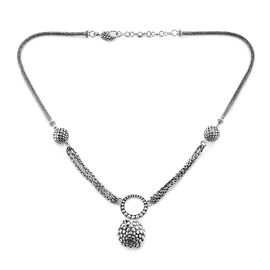 Bali Legacy Collection Sterling Silver Necklace (Size 18 with 1.5 inch Extender), Silver wt 32.20 Gm
