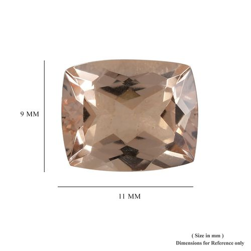 AAA Morganite Cushion 11x9 Faceted 3.80 Cts