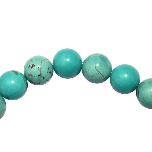 One Time Deal- Howlite Stretchable Beads Bracelet (Size 7.5) 145.94 Ct.