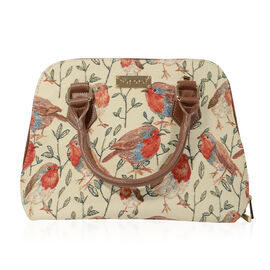 SIGNARE-Tapestry Collection - Robin Top-Handle Shoulder Bag with Removable Strap ( 36 x 23 x 12.5 Cm
