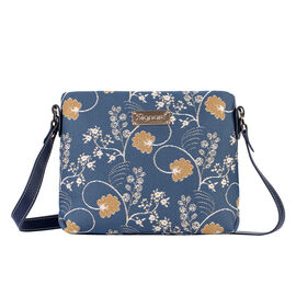 SIGNARE - Tapestry Collection - Jane Austen Blue Cross Body Bag ( 28 x 18 x 8 Cms)