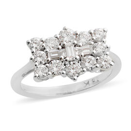 ILIANA 18K White Gold IGI Certified (SI/G-H) Diamond (Rnd) Ring  1.000  Ct.