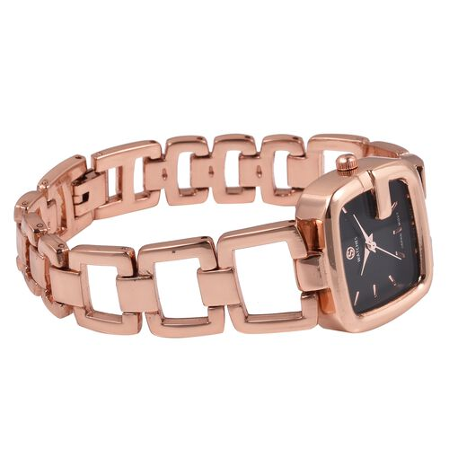 STRADA Japanese Movement Water Resistant Bracelet Watch in Rose Gold Plated